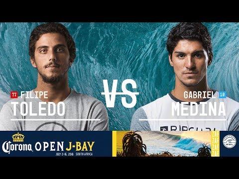 Filipe Toledo vs. Gabriel Medina - Quarterfinals, Heat 3 - Corona Open J-Bay - Men\'s 2018