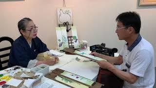 2019年 ちぐさ会 日本画家 寺岡多佳 ギャラリー香