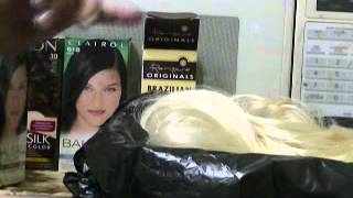 coloring human hair extension from blonde to drk brown Thumbnail