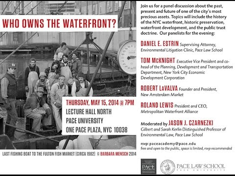 """Who Owns the Waterfront?"" Pace University, May 15, 2014"