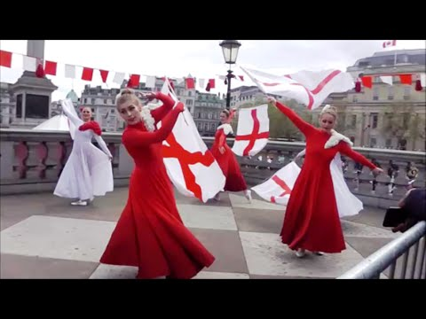 2016 St George's Day in Trafalgar Square London