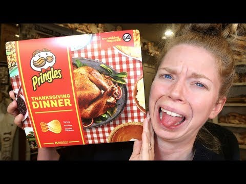 Thanksgiving Dinner Pringles Taste Test - OMG!