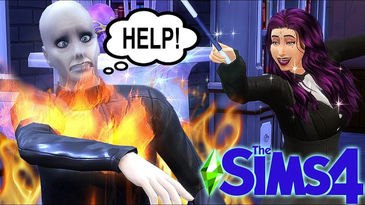 The Sims 4 ...But I SET EVERYTHING ON FIRE Using Magic thumbnail