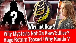 Huge WWE Return Teased ! Why Rey Mysterio not on Raw/Sdlive ? Where is Ronda Rousey Royal Rumble2018
