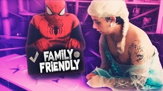 SPIDERMAN and ELSA play FIDGET SPINNER and sing FINGER FAMILY SONG (Family-friendly content)