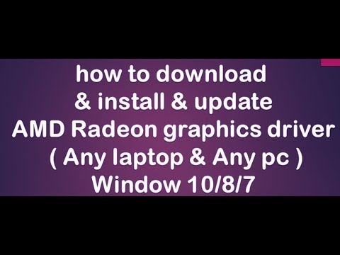 How To Install-update-download Amd Graphics Driver In Windows 10