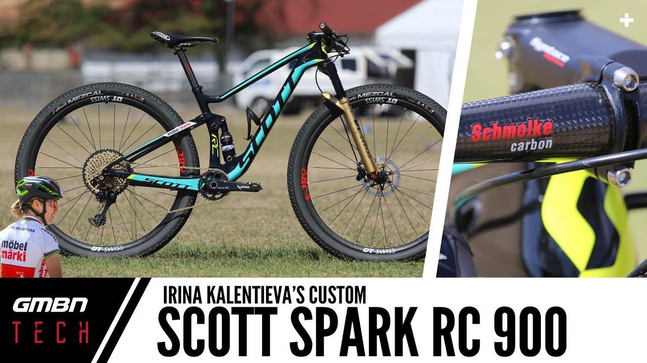 470197a06e4 Irina Kalentieva's Scott Spark RC 900 2018 | GMBN Tech Pro Bikes ...