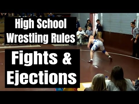High School Wrestling Rules - Part 18 Fights & Ejections