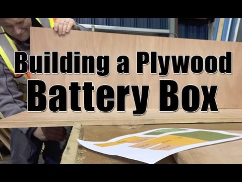 Building A Plywood Battery Box And Stand Youtube