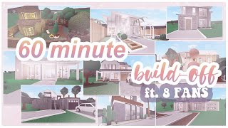 60 MINUTE BUILD-OFF with 8 FANS | ROBLOX Bloxburg