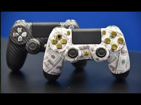 Carbon Fiber & Gold Money Custom PS4 Controllers