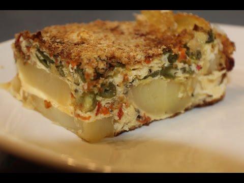 Potato Crusted Vegetable Quiche