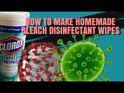 HOMEMADE DISINFECTANT BLEACH WIPES