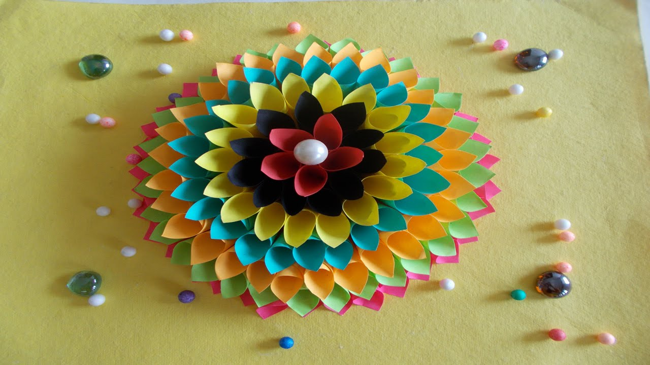Easy diy home decor ideas how to make wall decoration with paper summer crafts youtube also rh