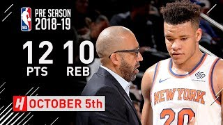 Kevin Knox Full Highlights Knicks vs Pelicans 2018.10.05 - 12 Pts, 10 Reb