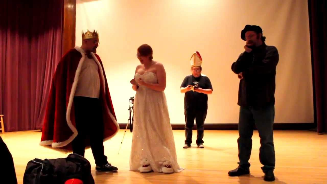 Real Weddings Youtube: Real Spaceballs Wedding