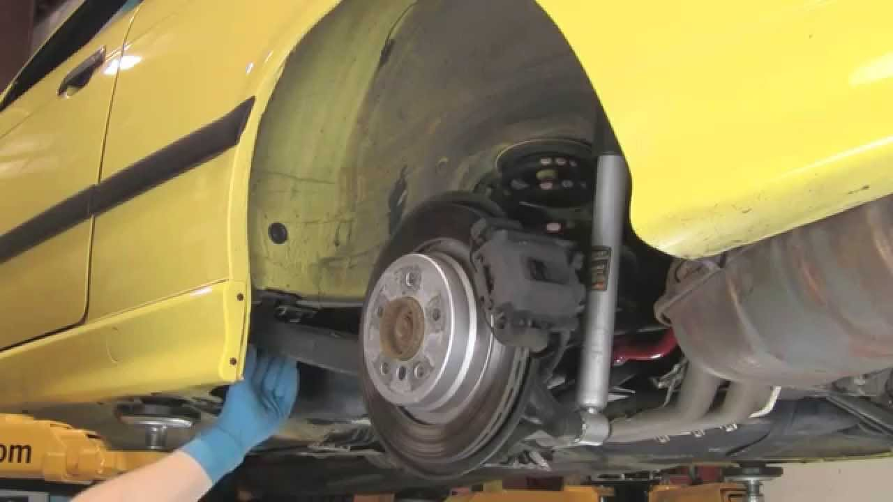 replacing rear trailing arm bushings on bmw 3 series 92 thru 05, z4 thru  08, x3 thru 10 - youtube