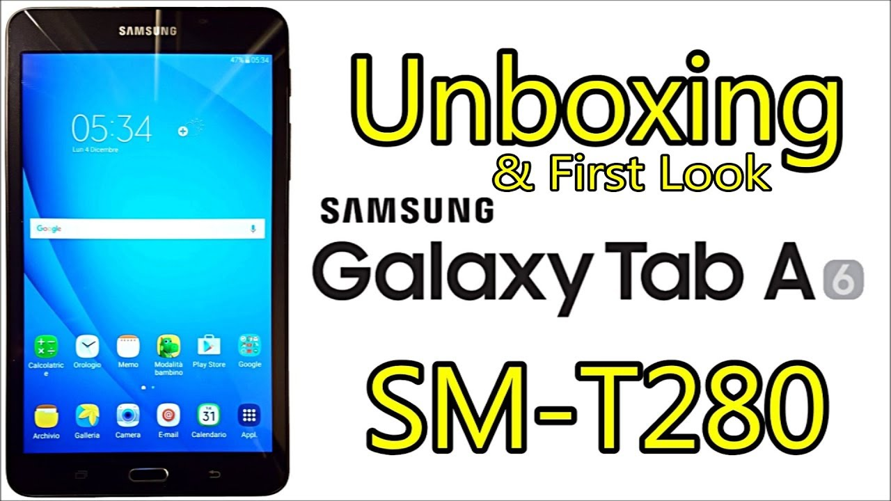 Samsung Calendario.Samsung Galaxy Tab A 2016 7 Sm T280 Unboxing First Look