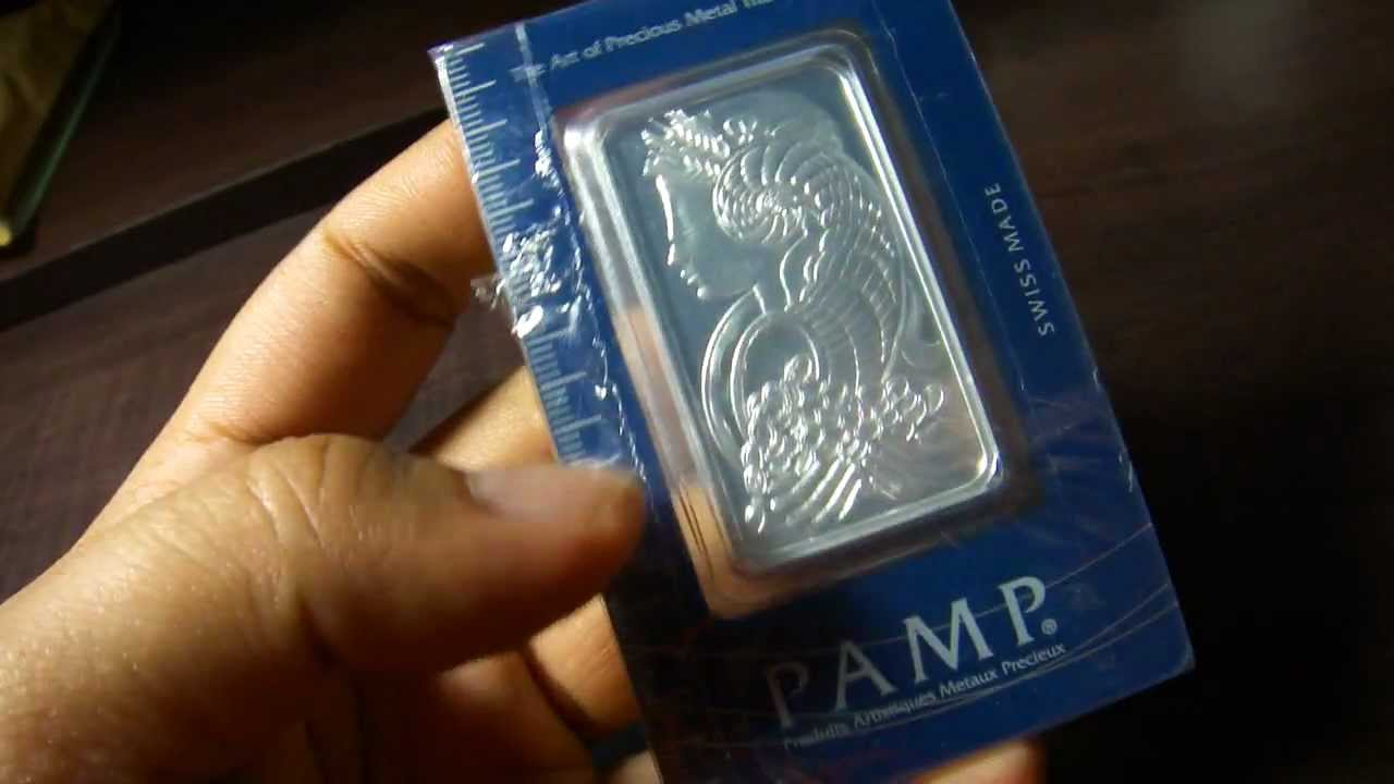 Pamp Suisse Lady Fortuna Silver Bar Youtube
