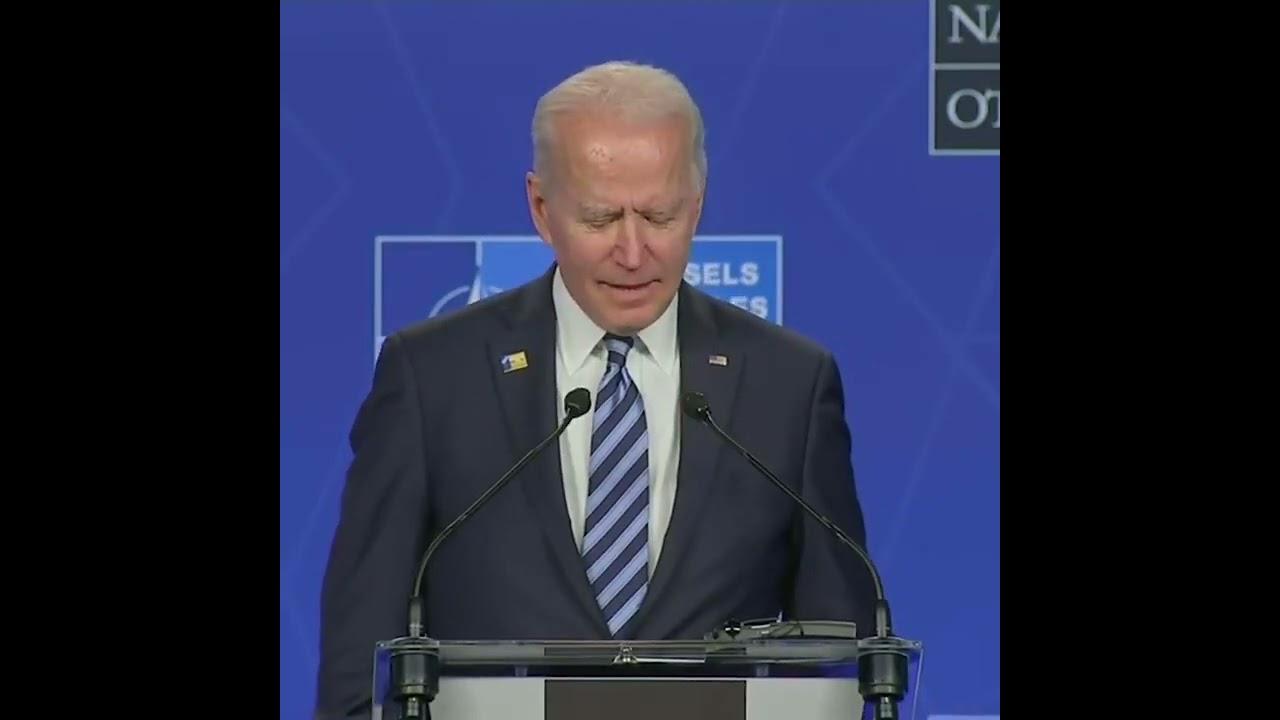 Biden's Brain Stops Working When the Press Asks Him About Putin