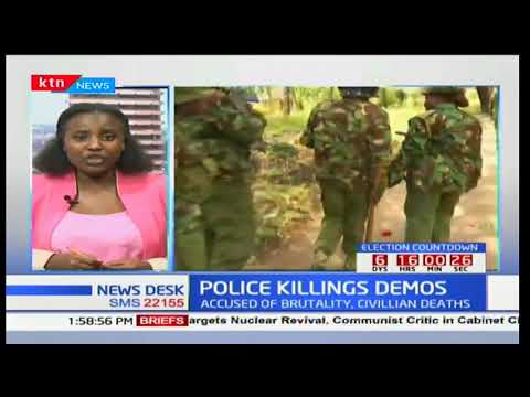 Activist Boniface Mwangi and Team Courage hold peaceful demo against police brutality