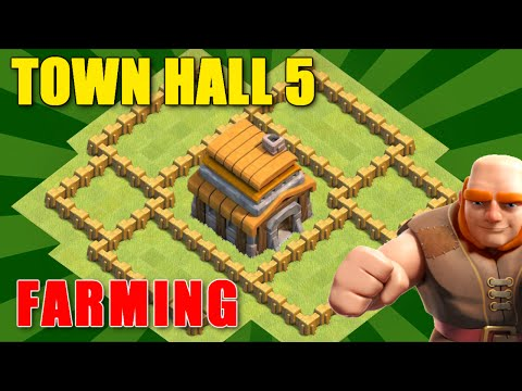 Clash Of Clans - BEST Town Hall 5 Farming Base (TH 5) ♦ June 2016