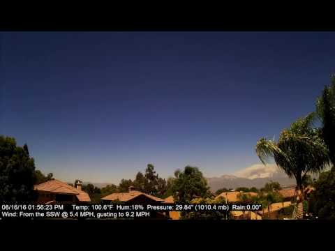 Chino Hills Time-Lapse 8/16/16