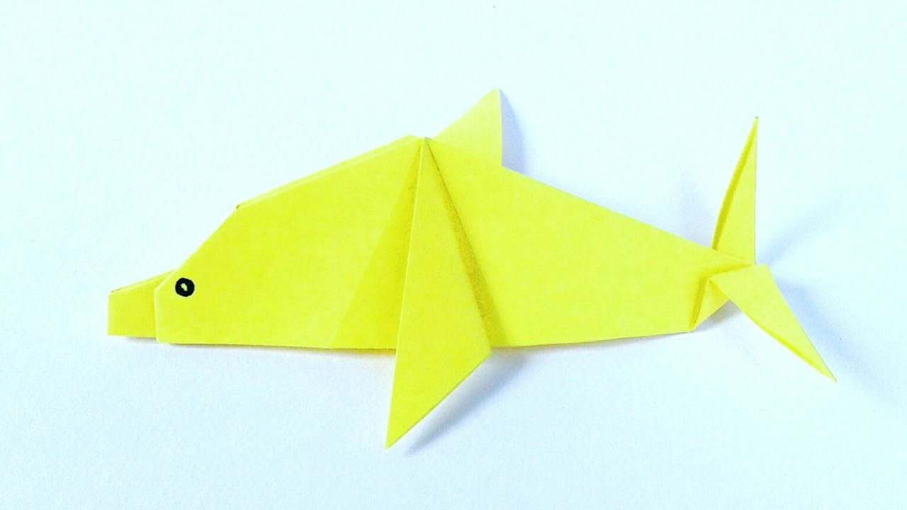 origami dolphin-How to make an easy Origami Dolphin-DIY Origami Tutorial by  Paper Folds