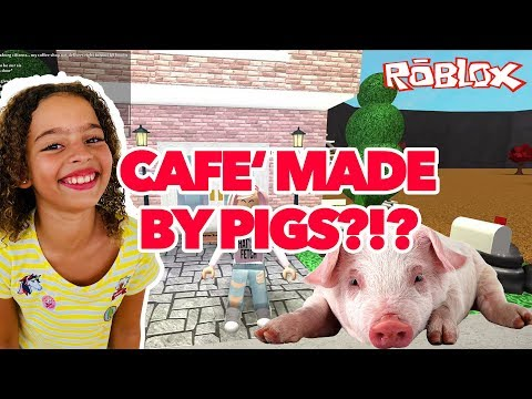 CRAZY BLOXBURG CAFE TOUR - MADE BY SWIMMING PIGS?!?