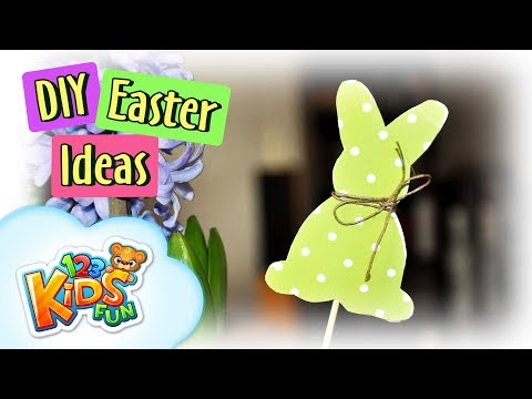 Easter decorations - bunny | DIY by Creative Mom