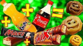ПЕЛЬМЕНИ ИЗ КОКА КОЛЫ + ФАНТА + ТВИКС + МАРС ??! *О* coca cola + fanta + twix ...