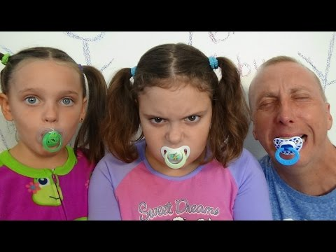 "Thumbnail: 3 Bad Babies Victoria Annabelle Baby Daddy ""Hidden Surprise Eggs"" Toy Freaks"