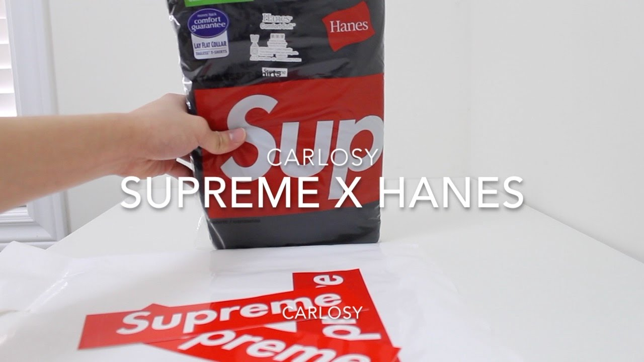 SUPREME HANES T SHIRTS REVIEW - YouTube