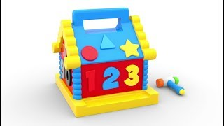 Learn Shapes and Numbers with Wooden Hammer Educational Toys - Numbers & Shapes Collection