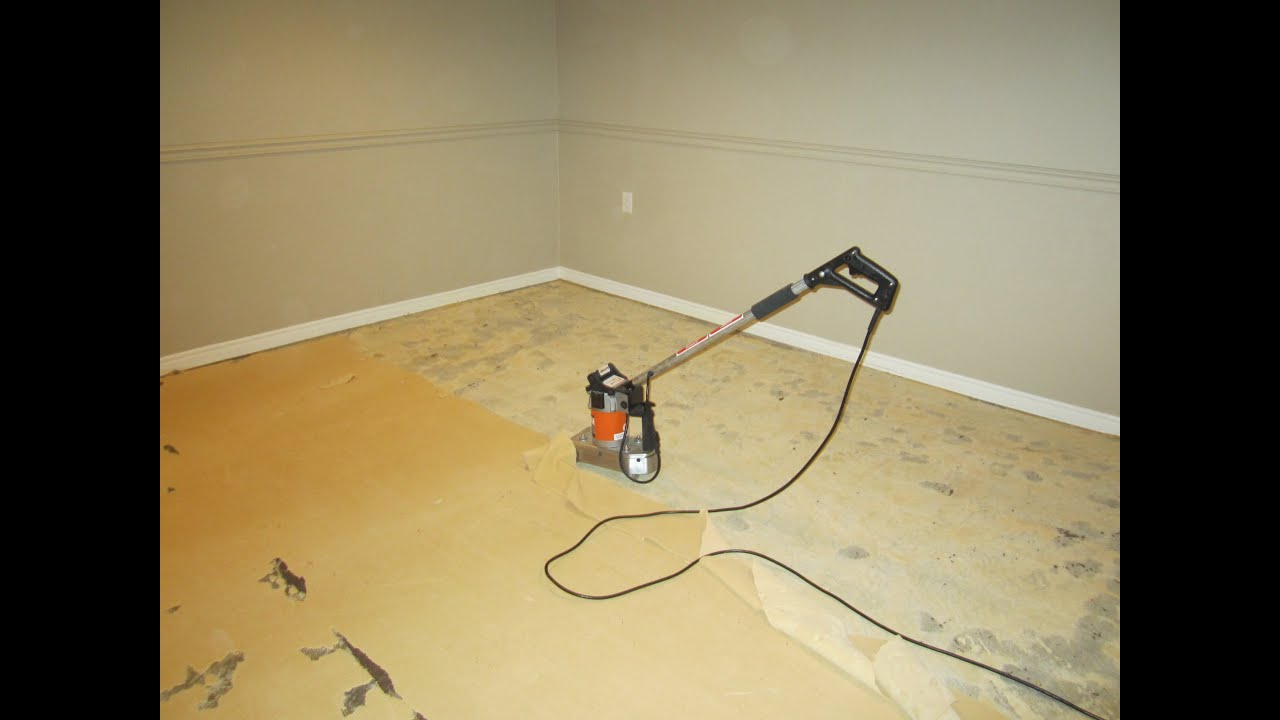 Remove old carpet underpadding - Easy and NO DUST technique - YouTube