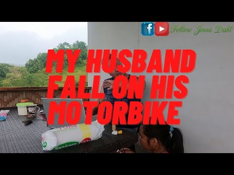 HE CAN`T BARELY WALK BECAUSE HE FALL ON OUR MOTORBIKE