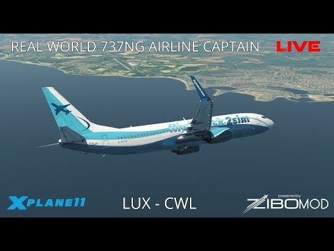 X-Plane 11 | Real Airline Captain LIVE |  (ZIBO MOD 737) | Luxembourg - Cardiff thumbnail