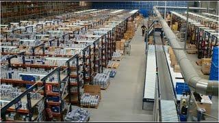 Centre logistique de réussite dans la gestion de grandes quantités de références