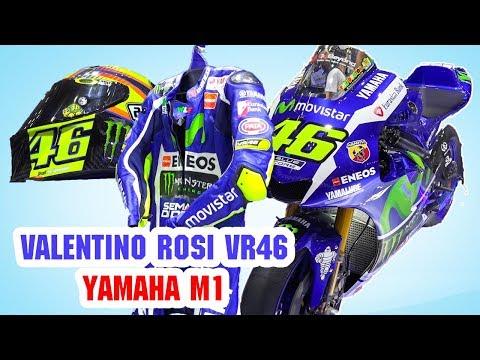 Siêu Xe Moto Hơn 20 Tỉ Yamaha M1, Áo Quần, Mũ Bảo Hiểm, Găng Tay, Giày Của Valentino Rossi VR46