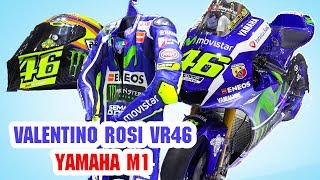 Yamaha YZR-M1, Racing DAINESE LEATHER SUIT, AGV Helmet ▶ Valentino Rossi VR46