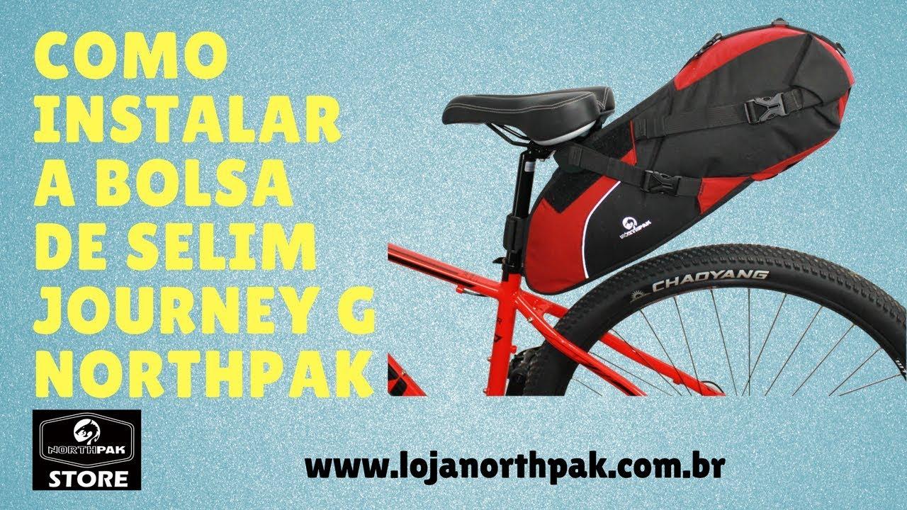 Bolsa Bike Packing Journey G Northpak instalação - YouTube 21496191d97