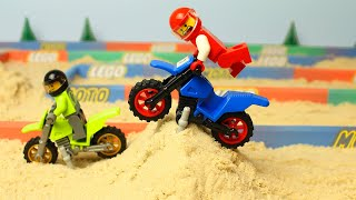 Lego Motocross Race fail for kids