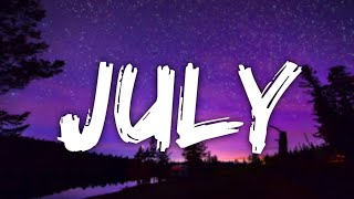 Noah Cyrus - July (Lyrics)