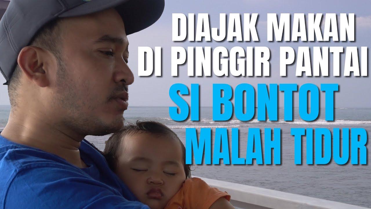The Onsu Family - Diajak makan di pinggir pantai, Bontot malah tidur