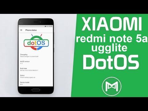 REVIEW COSTUM ROM Dot'Os - XIAOMI REDMI NOTE 5A UGGLITE
