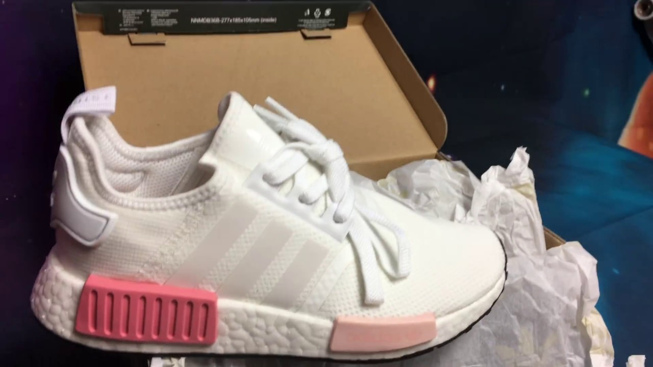 79f1b3fe70947 adidas W NMD R1 ICEY PINK Unboxing - YouTube