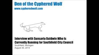 Southfield City Council Candidate Interview #5 Sunsaria Baldwin