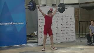 Бармин Иван, 11 лет, вк 49 Рывок 29 кг Есть личный рекорд!