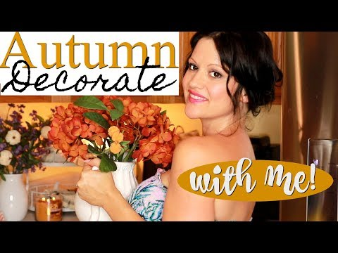 FALL DECORATE WITH ME 2019! FARMHOUSE FALL HOME DECORATING IDEAS FOR A COZY KITCHEN 🧡