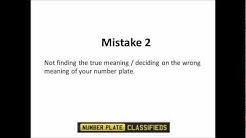 Number Plate Valuation - The 4 Fatal Mistakes